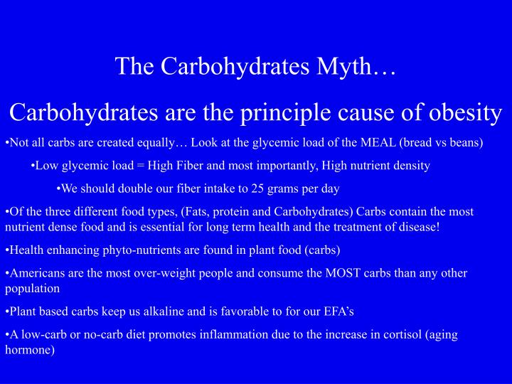 The Carbohydrates Myth…