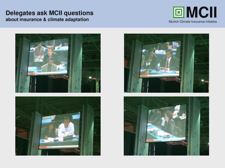 Delegates ask MCII questions