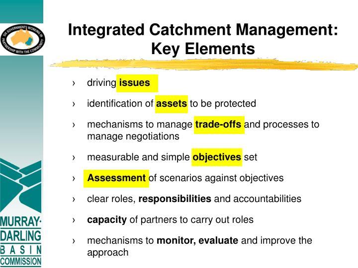 Integrated Catchment Management: Key Elements