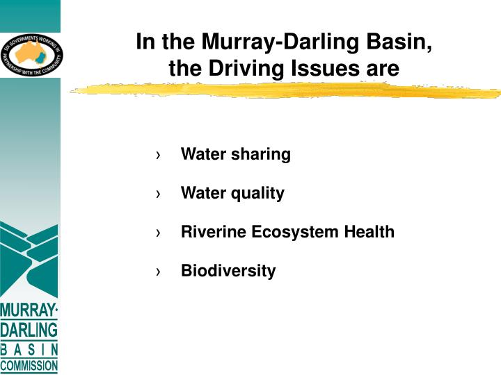 In the Murray-Darling Basin,
