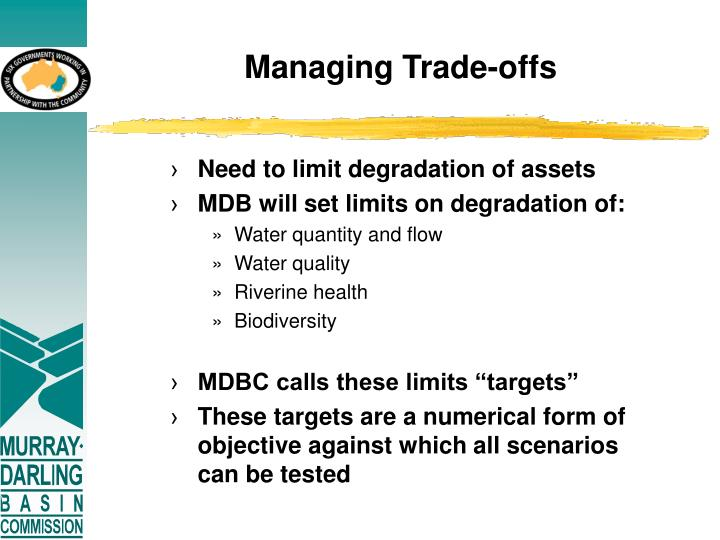 Managing Trade-offs