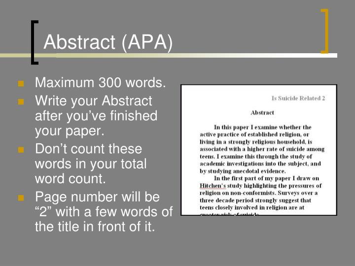 Abstract (APA)