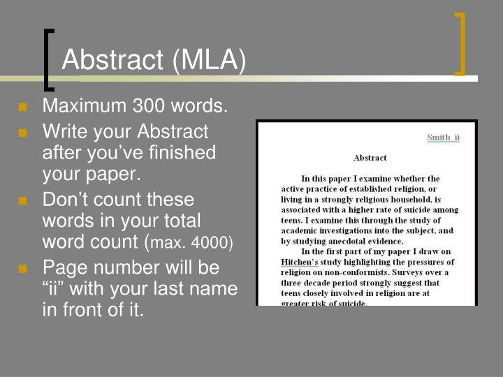 Abstract (MLA)