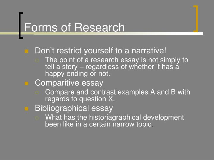 Forms of Research