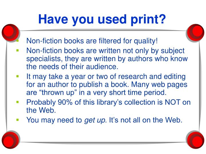 Have you used print?
