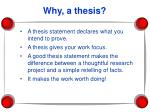 why a thesis