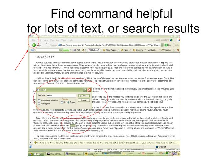 Find command helpful
