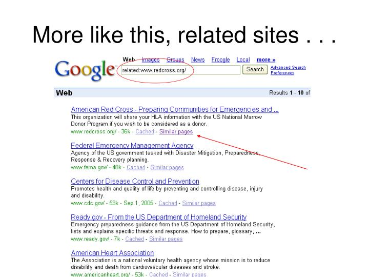 More like this, related sites . . .