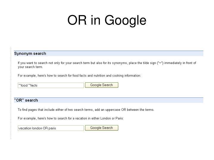 OR in Google