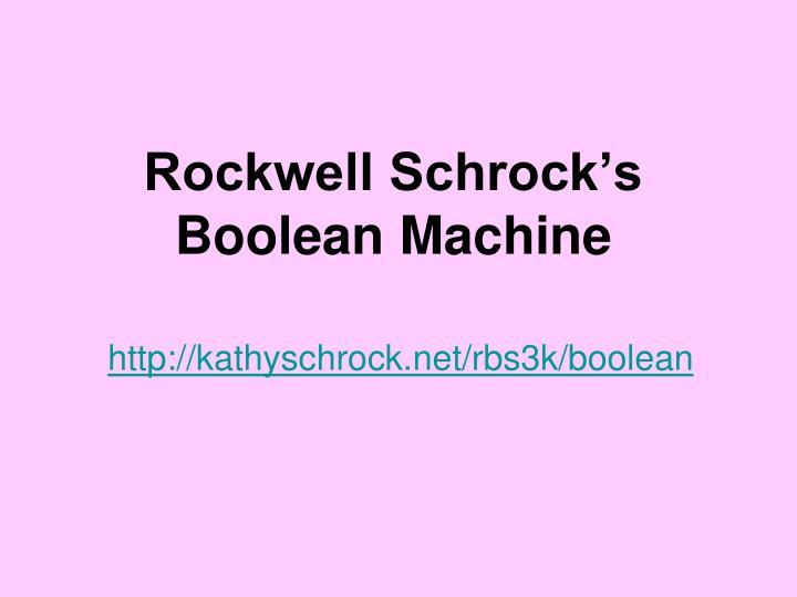 Rockwell Schrock's