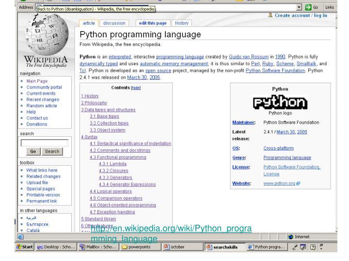 http://en.wikipedia.org/wiki/Python_programming_language