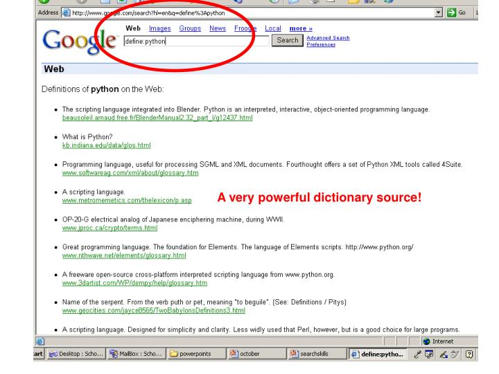 A very powerful dictionary source!
