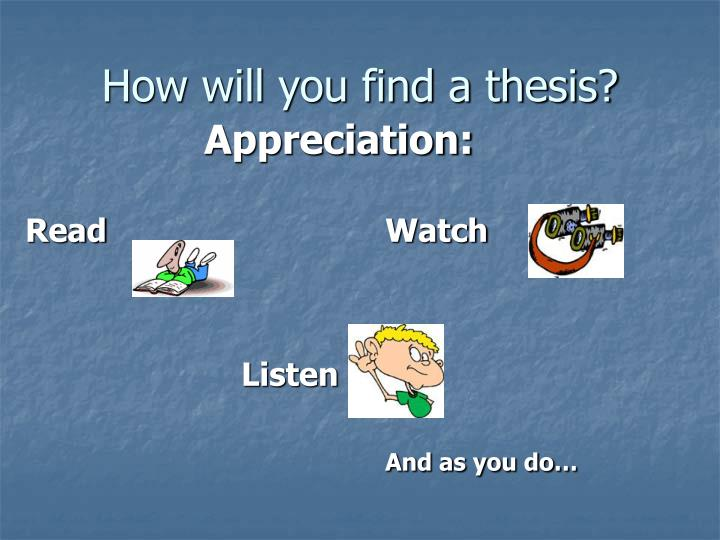 Find A Thesis