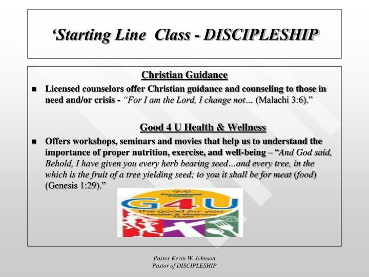 'Starting Line  Class - DISCIPLESHIP