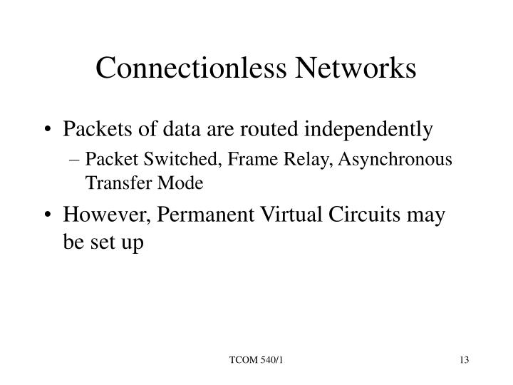Connectionless Networks