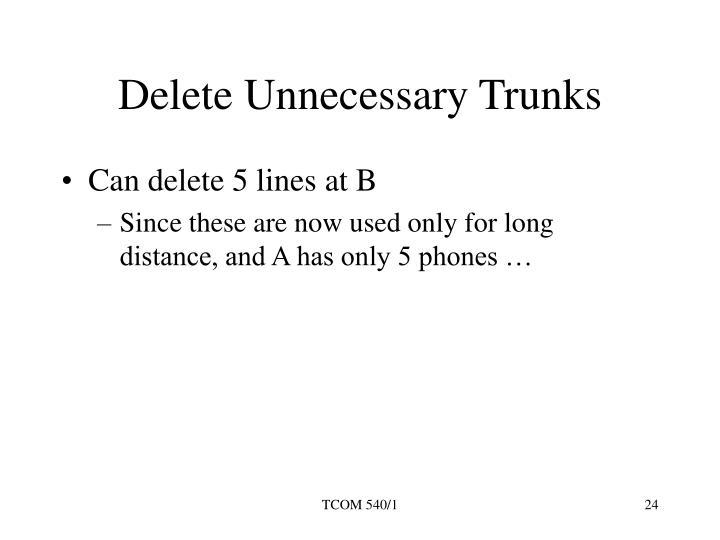 Delete Unnecessary Trunks