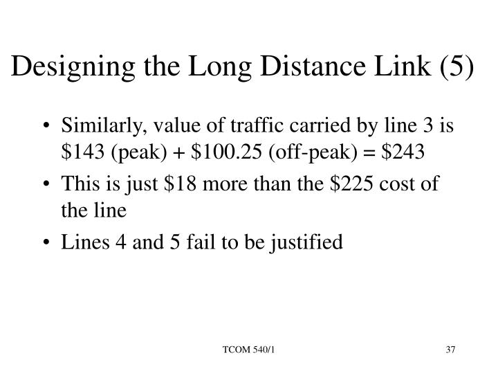 Designing the Long Distance Link (5)