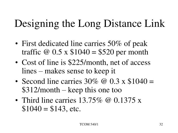 Designing the Long Distance Link