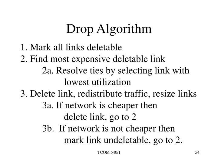 Drop Algorithm