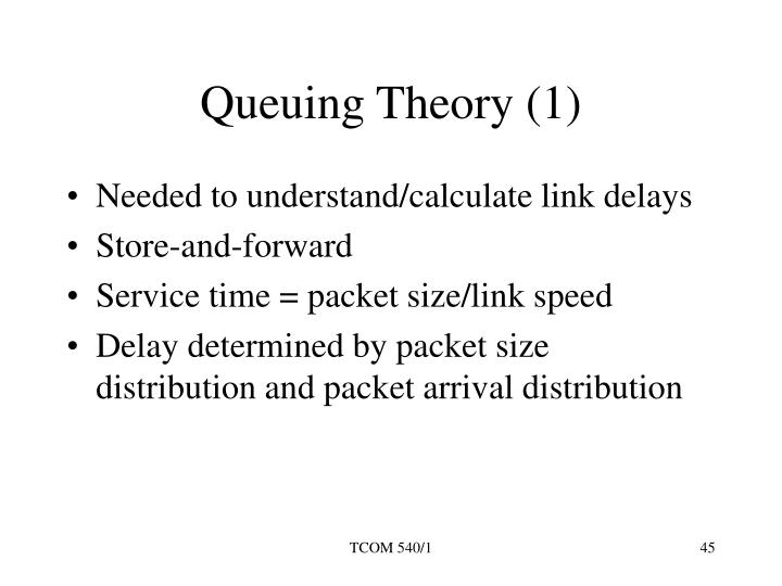 Queuing Theory (1)