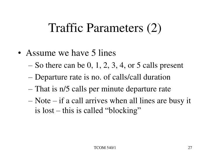 Traffic Parameters (2)