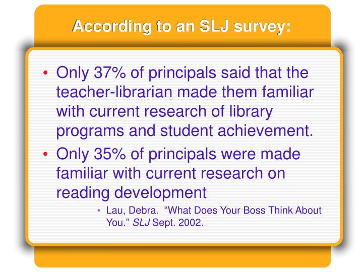 According to an SLJ survey: