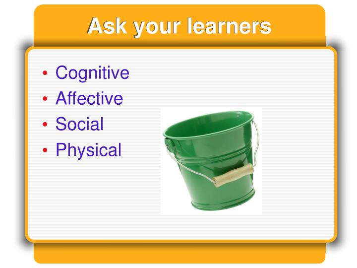Ask your learners