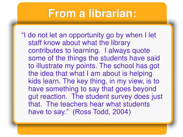 From a librarian: