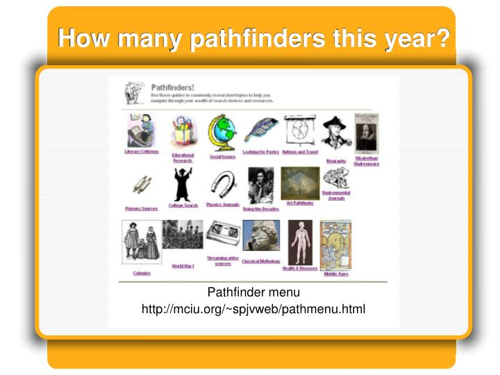 How many pathfinders this year?