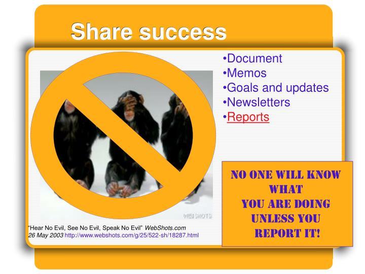 Share success