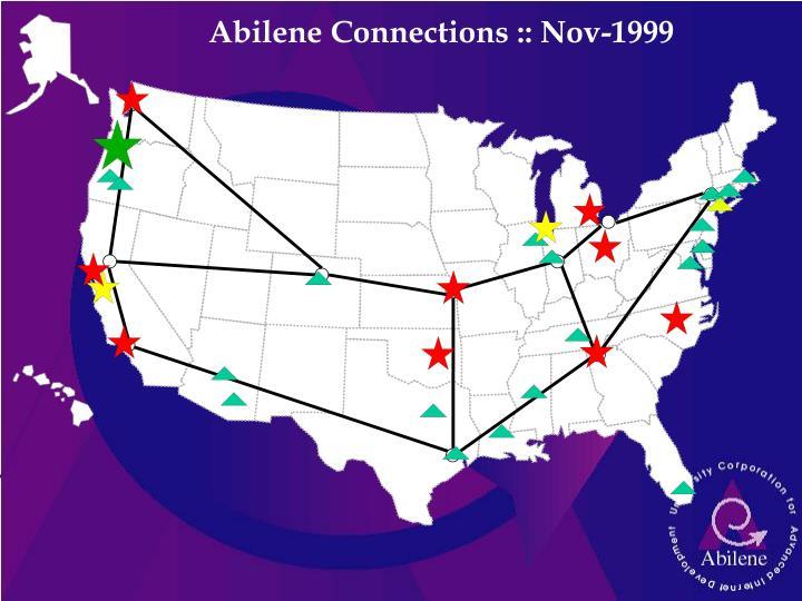 Abilene Connections :: Nov-1999