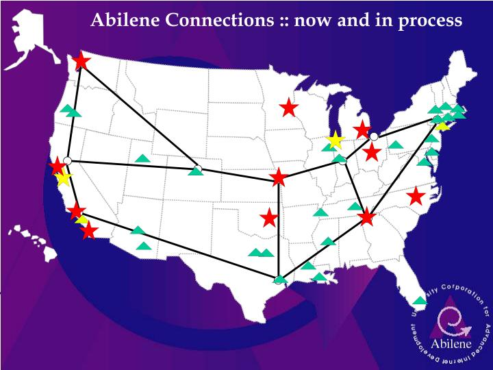 Abilene Connections :: now and in process