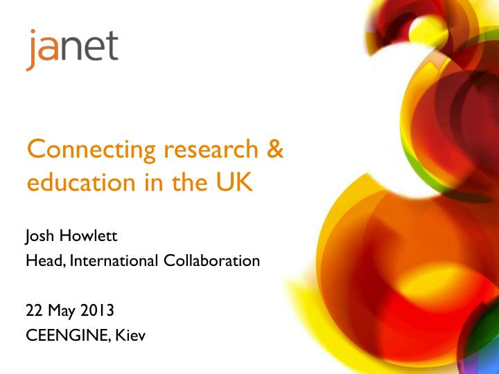Connecting research & education in the UK