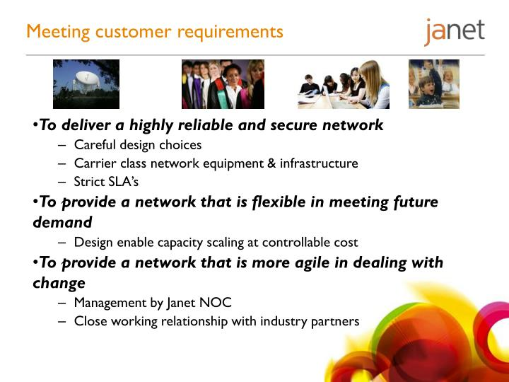 Meeting customer requirements