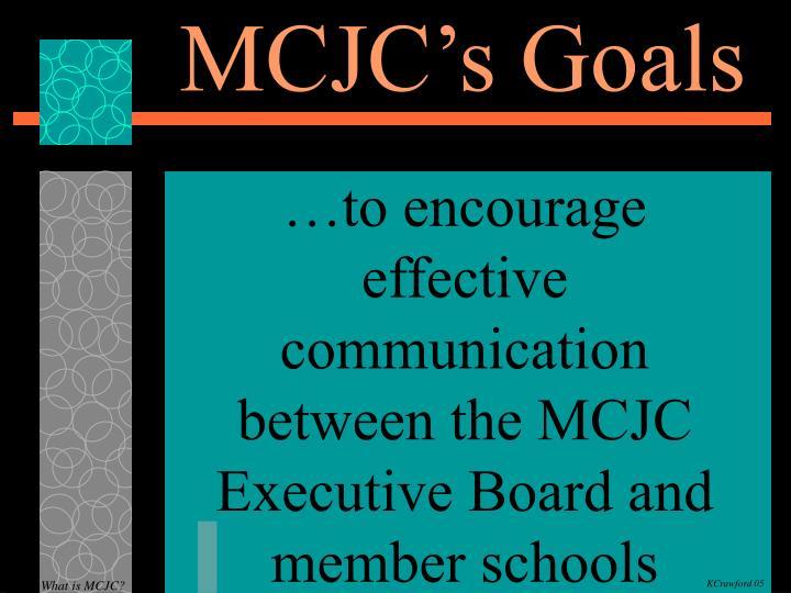 MCJC's Goals