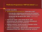 platforma programowa ohp dla szko y c d
