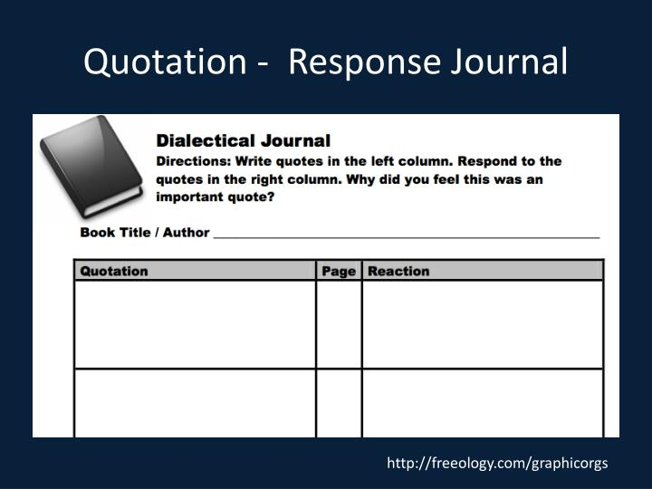 Quotation -  Response Journal