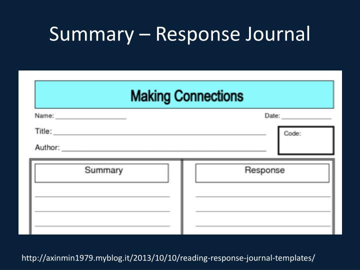 Summary – Response Journal