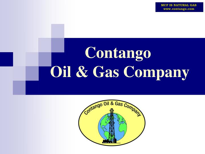 Contango oil gas company