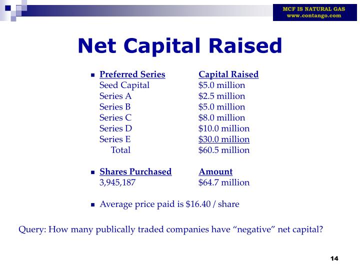 Net Capital Raised