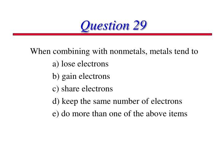 Question 29