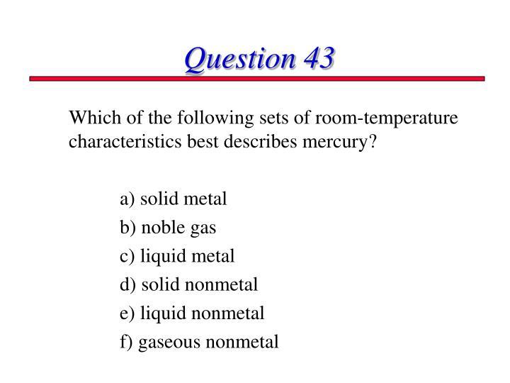 Question 43