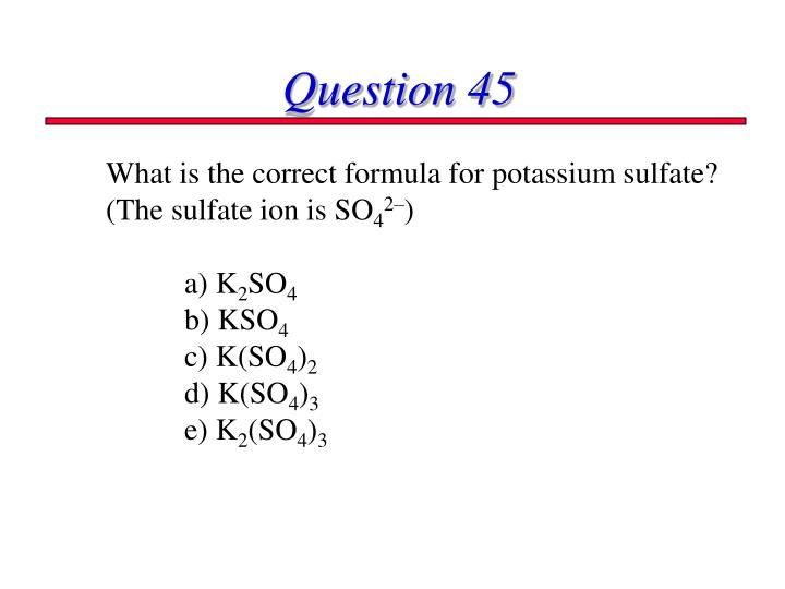 Question 45