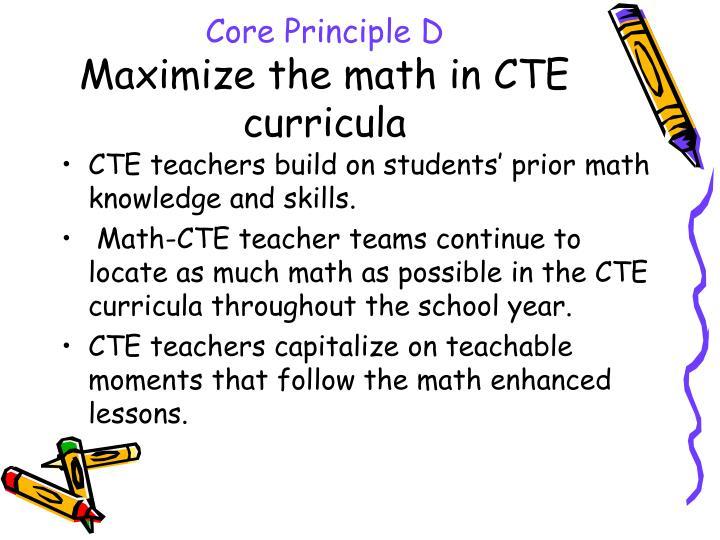 Core Principle D