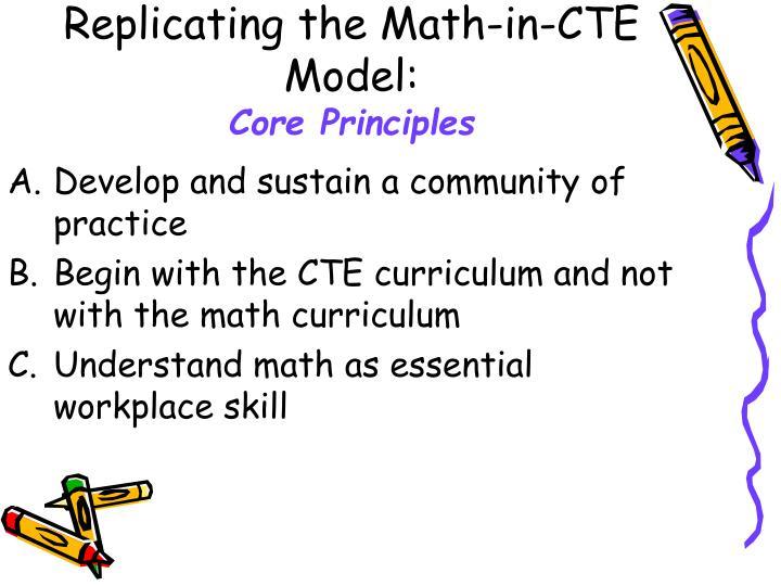 Replicating the Math-in-CTE Model: