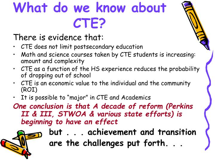 What do we know about CTE?