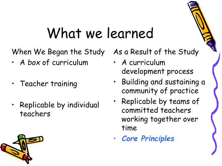 When We Began the Study