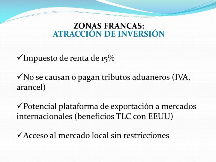 zonas francas: