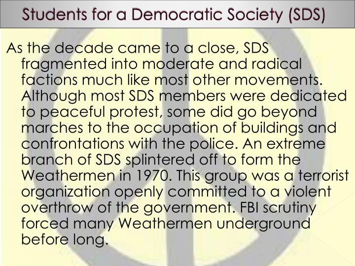 Students for a Democratic Society (SDS)