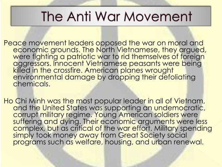 The Anti War Movement